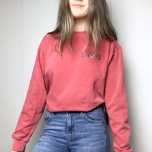 🌿2/$35 Red Washed Faded Crewneck Alabama Sweater